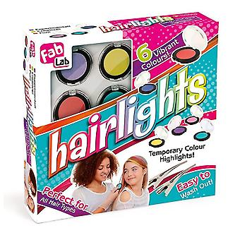 FabLab Hairlights Kit - contains 6 different hair shadows