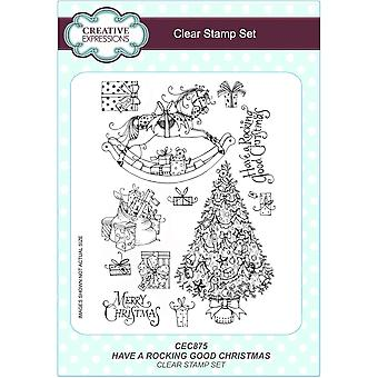 Creative Expressions Have A Rocking Good Christmas Clear Stamp 12 Set*^^