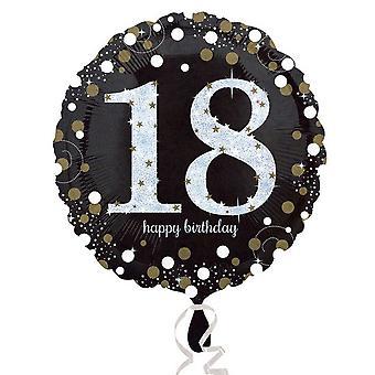 Amscan Sparkling Milestone Birthday Round Balloon (Age 18-100)