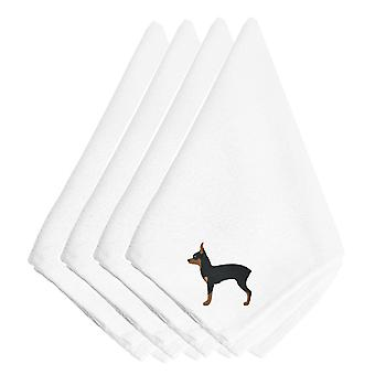 Carolines Treasures  BB3387NPKE Toy Fox Terrier Embroidered Napkins Set of 4