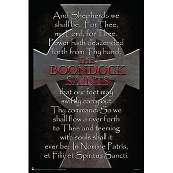 The Boondock Saints Cross & Prayer Poster Poster Print