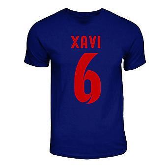 T-shirt Barcellona Xavi Hero (blu marino)