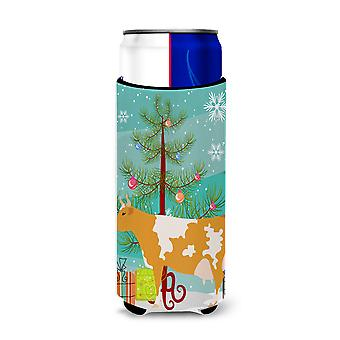 Guernsey Cow Christmas Michelob Ultra Hugger for slim cans