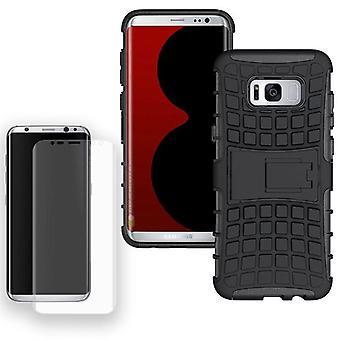 Hybrid case 2 piece SWL black for Samsung Galaxy S8 plus G955 G955F + tank slide