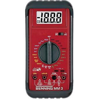 BENNING MM 3 Multimetru handheld digital CAT II 600 V, CAT III 300 V display (conteaza): 2000