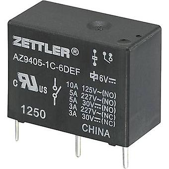 Zettler Electronics AZ9405-1C-12DEF PCB relay 12 V DC 10 A 1 change-over 1 pc(s)