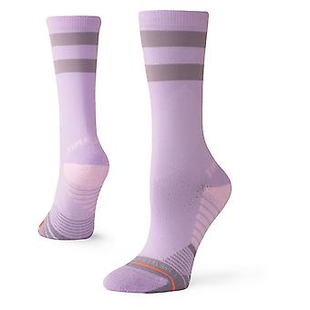 Stance Time Me Crew Crew Socks in Lavender