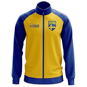 Ruotsi käsite jalkapallo Track Jacket (keltainen) - lapset