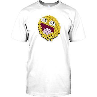 Smiley ansikt Pixel - kul Gamer Mens T-skjorte