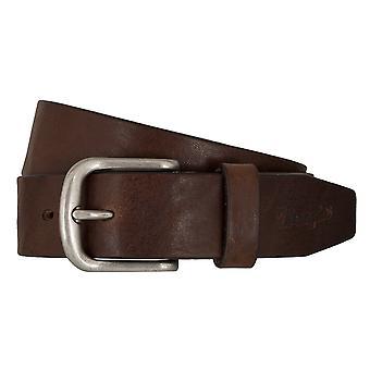Pour hommes ceintures WRANGLER ceinture cuir ceintures marron 7462