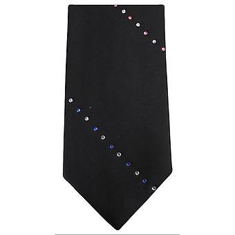 Knightsbridge Neckwear stripete Diamante uavgjort - Black/Pink/blå
