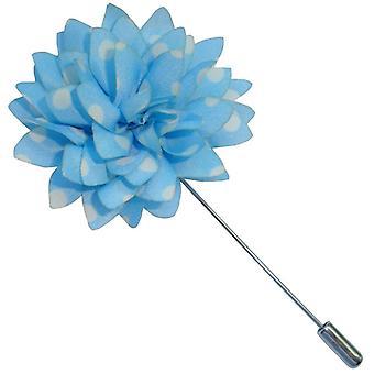 Bassin y Brown Spotted flor solapa chaqueta - azul/blanco