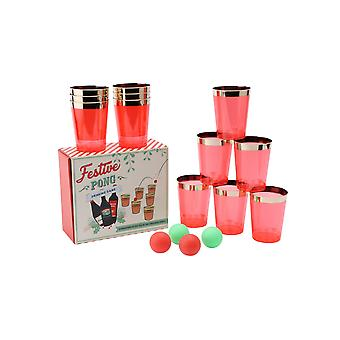 Joy To The World Festive Pong Drinking Game