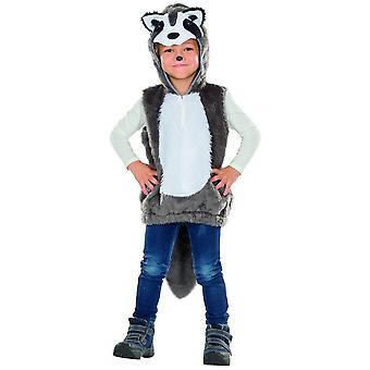 Procione bambini costume unisex animale costume di Carnevale Carnevale racoon