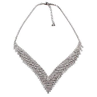 Dante V Shape Diamante Necklace