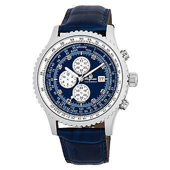 Burgmeister BM320-133 Savannah, Gents watch, Analogue display, Chronograph with Citizen Movement - Water resistant, Stylish leather strap, Classic men's watch