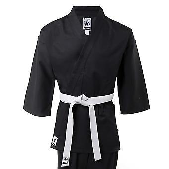Bytomic Kinder 100 % Baumwolle Studenten schwarzen Karate Uniform