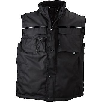 James and Nicholson Unisex Fleece Lined Workwear Vest