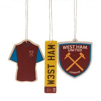 West Ham United 3pk Air Freshener