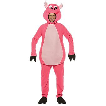 Adulto Oink Pig Farm Animal novità Fancy Dress Costume