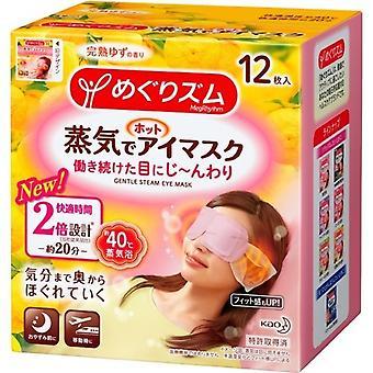 KAO Megurhythm Dampf Warm Auge Maske Zitrusfrüchten neue Formel 12 Blätter