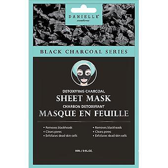 Węgiel drzewny maski na twarz Danielle - detoksykujący Bambus Węgiel drzewny arkusz maska - 4 szt.