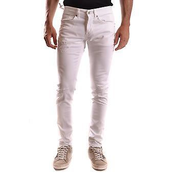 Dondup Ezbc051032 Men's White Cotton Jeans