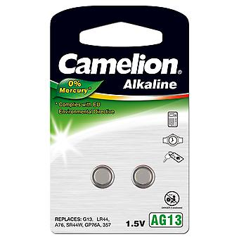Camelion A76 LR44 AG13 Battery 2-pack