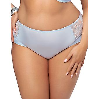 Gorsenia K477 Women's Aqua Sky Blue Lace Full Panty Highwaist Brief