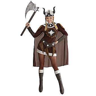 Costume de Viking Viktoria (robe ceinture casque bcovers Cape
