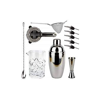 Bartender's Bar Kit with Cobbler Cocktail Shaker