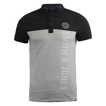 Mens polo shirt smith and jones collared tee top rendall