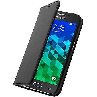 Samsung Galaxy Core Prime Bigben wallet Flip Case Cover - Black