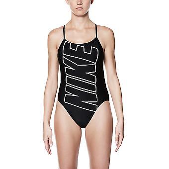 Nike السباحة الأداء Nike الشعار قطع قطعة واحدة