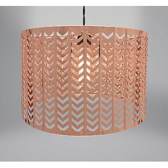 Country Club metall ljus montering, Chevron koppar