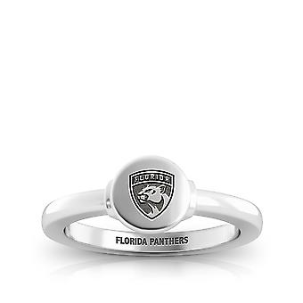 Florida Panthers Engraved Sterling Silver Signet Ring