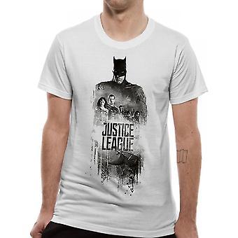 Justice League Unisex Adults Batman Silhouette Design T-Shirt