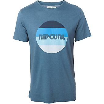 Rip Curl Big Mama Round Logo Short Sleeve T-Shirt in Indian Teal Marl