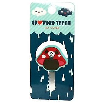 Key Cap  - Crowded Teeth - Red Mushroom Rubber PVC Anime New ctkc0006
