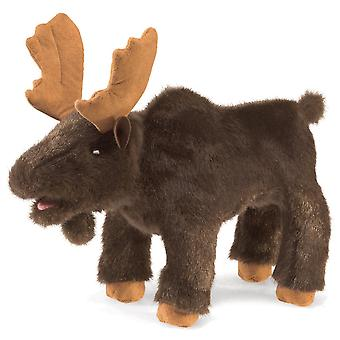 Hand Puppet - Folkmanis - Moose Small New Toys Soft Doll Plush 3109