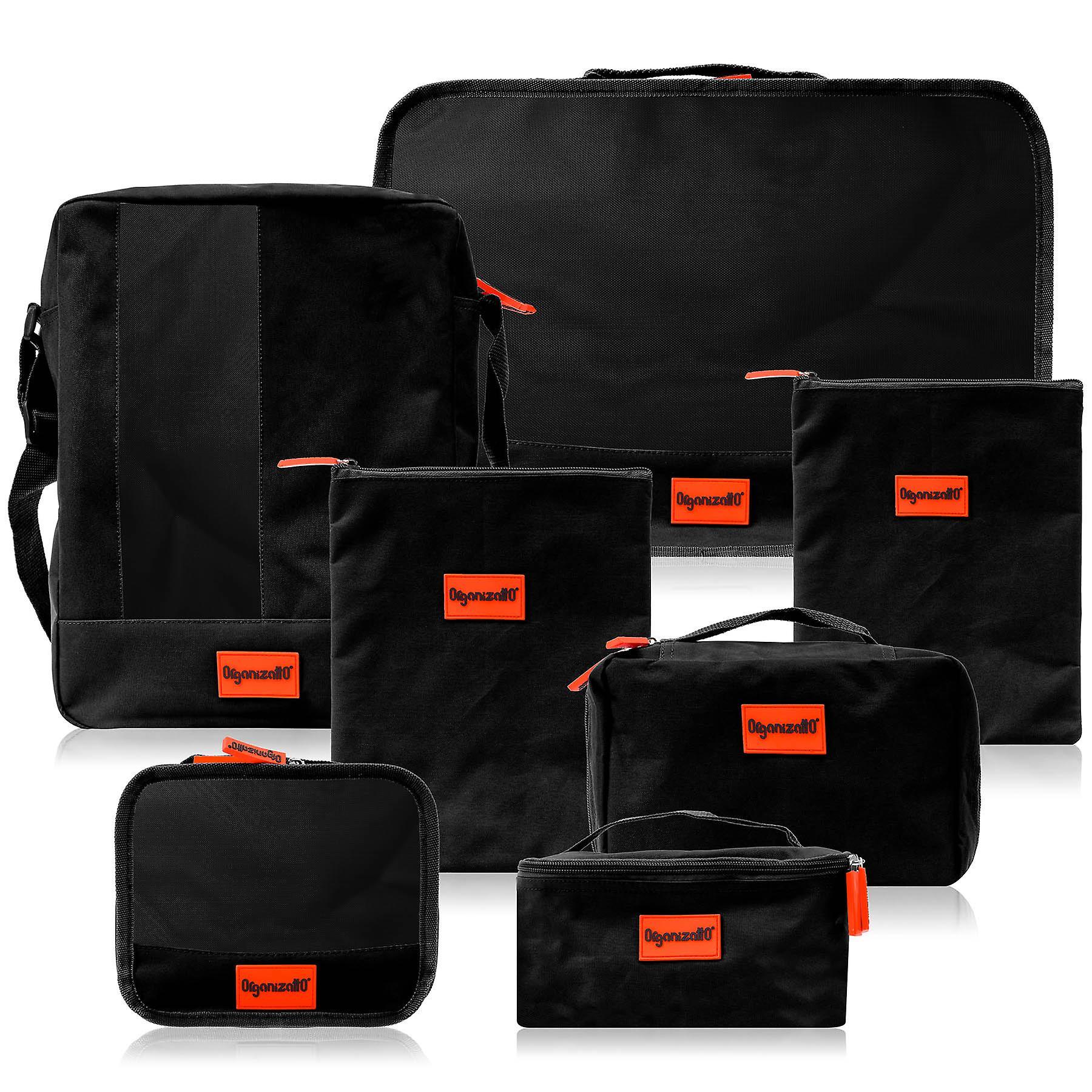 SHANY 7 in 1 Travel Cosmetics Makeup Organizer Packing Bag set - Noir