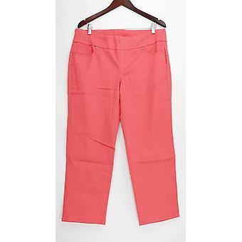 Denim & co. kvinner ' s Petite jeans perfekt denim glatt midje rosa A239620