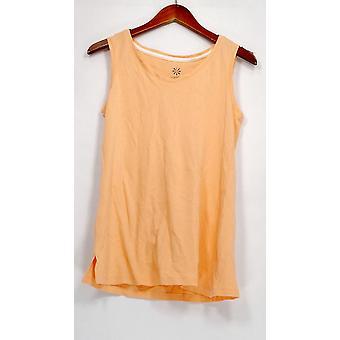 Isaac Mizrahi Live! Frauen's Top Essentials V-Neck Tank Orange A306536