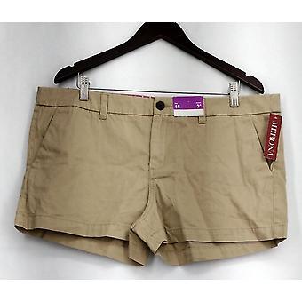 Merona Zipper & Button Closure Shorts w/ Pockets Beige Womens