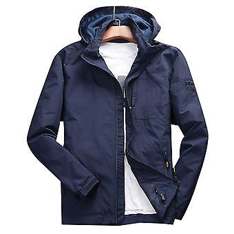 Allthemen Men's Jacket Thin Loose Hooded Spring&Autumn Casual Travel Jacket