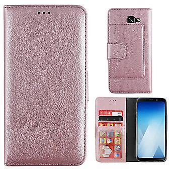 Samsung A5 2018 und A8 2018 Fall Pink - Brieftasche Fall