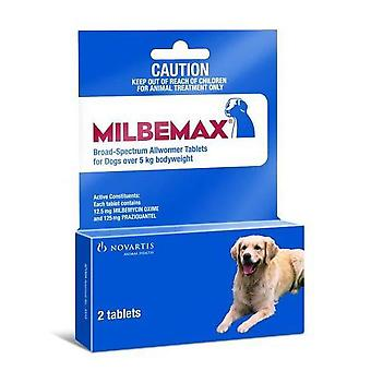 Milbemax Wormer Dogs 5-25kg (11-55lbs) - 2 Tablets