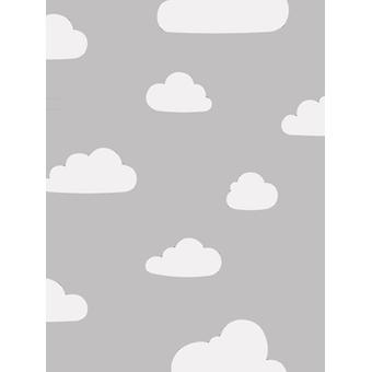 Clouds Wallpaper Grey / White World of Wallpaper A618 CAO 3
