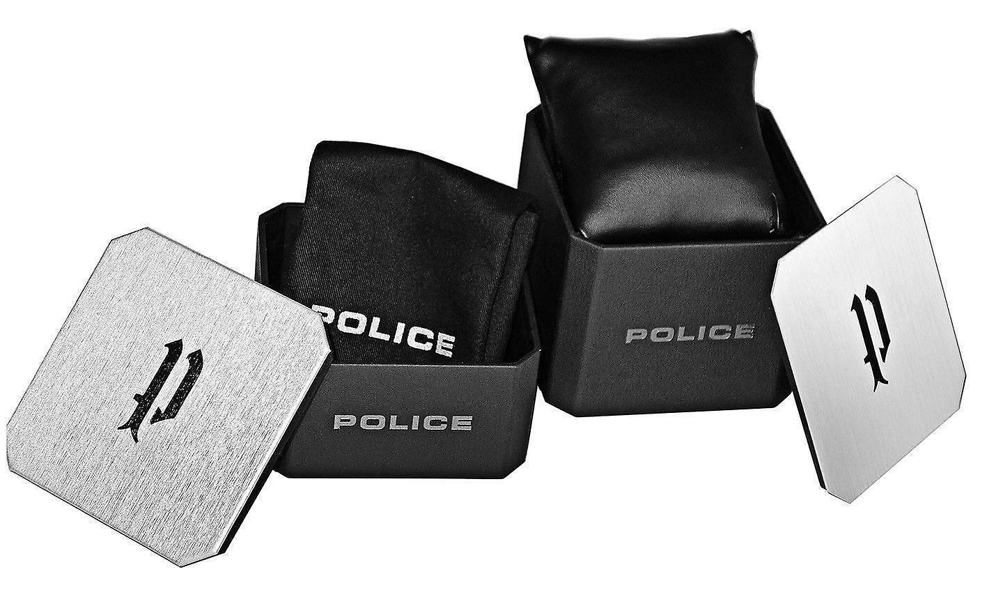 Police Hommes Gents Peckham Quartz Montre de poignet 15527JSTU/04P