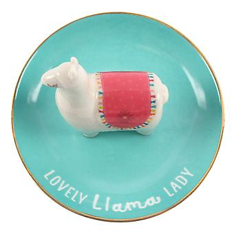 Something Different Llama Lady Jewellery Dish